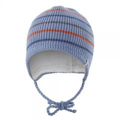 Čepice pletená zavazovací Outlast® Proužky/denim