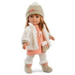 Panenka - Elena s lososovými šatičky 35 cm