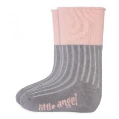 Ponožky froté Outlast® Tm.šedá/sv.růžová