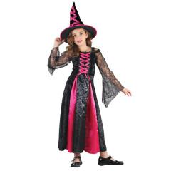 Karnevalový kostým ČARODĚJKA, Vel. 130-140cm
