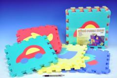 Pěnové puzzle podložka 30cm - auta
