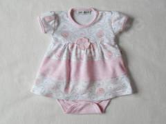 Šatičky krátký rukáv MEDVÍDEK růžové Baby Service vel. 56 - 80