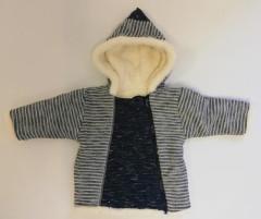 Zimní kabátek s kapucí wellsoft zateplený modrý Baby Service