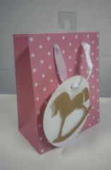Dárková taška mini puntíky růžová 13,5 x 11 cm Albi
