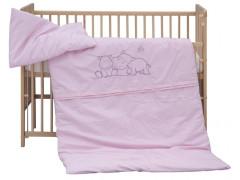 Dětské povlečení 2dílné - Scarlett Hrošík - růžové 100 x 135 cm