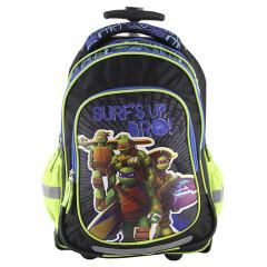 Školní batoh trolley Target - nášivka želvy Ninja