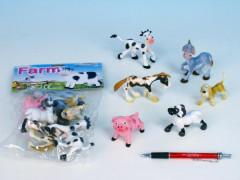 Zvířátka farma veselá plast 6ks v sáčku
