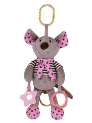 Plyšová hračka se zvukem Baby Mix Myška růžová