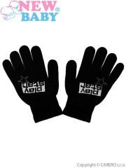 Dětské zimní rukavičky prstové New Baby Boys černé Vel. 122
