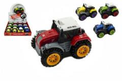 Plastový převracecí traktor na baterie 10 cm
