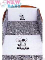 3-dílné ložní povlečení New Baby Zebra 90/120 bílo-černé