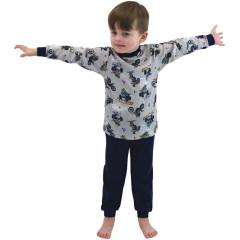 Bavlněné pyžamo Motorky na šedé Esito