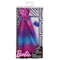 Barbie šaty s doplňky růžové šaty s modro-fialovo-růžovou sukní