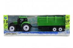 Traktor s přívěsem plastový 28cm