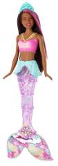Barbie svítící mořská panna s pohyblivým ocasem ČERNOŠKA