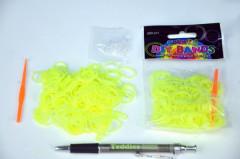 Udělej si svůj náramek - gumičky 250ks žluté