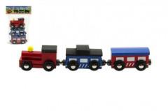Vláček s vagóny na magnety 3 ks