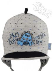 Jarní - podzimní čepička na zavazování s kšiltem DINO RDX