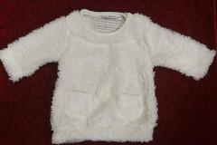 Zimní kabátek - šaty beránek bílý Baby Service