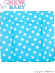 Bavlněná přebalovací podložka 70x65 New Baby hvězdičky tyrkysová