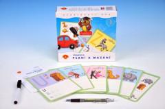 Písmena - Psaní a mazání 1 - didaktická společenská hra v krabici