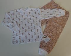 Bavlněné pyžamo žirafky béžové vel. 122