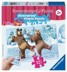 Puzzle Máša a Medvěd 12 plast. dílků III - BRUSLENÍ