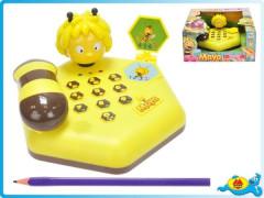 Telefon Včelka Mája 16x16cm se světlem a zvukem