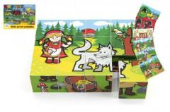 Kostky kubus dřevěné Moje první pohádky 12ks