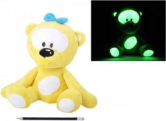 Medvídek plyš svítící ve tmě, žlutý