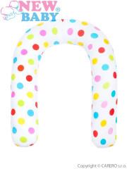 Univerzální kojící polštář New Baby bílý puntíky