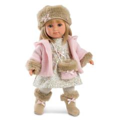 Panenka - Elena s růžovým kabátkem 35 cm