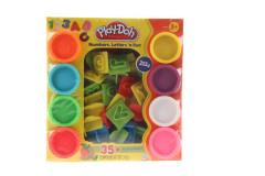 Play-Doh sada sčísly a písmeny
