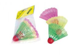Badmintonové míčky/košíčky plast 3ks
