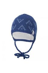 Čepice pletená zavazovací šipky Outlast® - Tm. denim