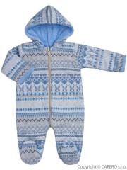Zimní kojenecká kombinéza Baby Service Etnik zima modrá