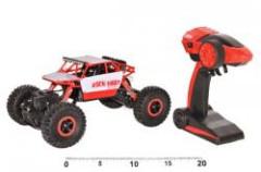 RC auto Rock Buggy Scarab malé červené RC 2.4GHz 4x4 offroad plast 26cm