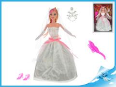 Panenka nevěsta kloubová 29cm s doplňky