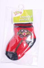 Kojenecké ponožky bavlna KIKKO 0 - 6 m AUTO červeno-modré typ 1