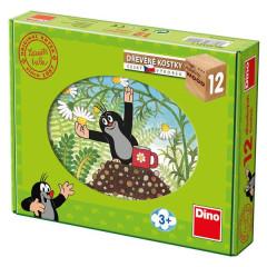 Kostky kubus Krtek a přátelé dřevo 12ks v krabičce
