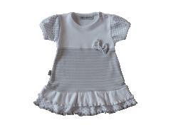 Šatičky krátký rukáv Hvězdičky a proužky Baby Service