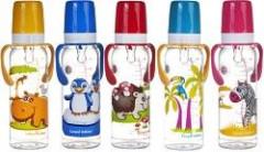 Láhev s potiskem kontinenty 250 ml s úchyty bez BPA