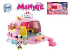 Minnie auto cukrárna se světlem a zvukem s kloubovou figurkou a doplňky
