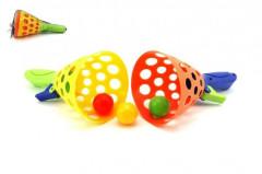 Catch ball hra 2ks + 3 míčky plast 19cm v síťce