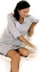 Noční košile ke kojení ''Sarah'' modrošedý melír