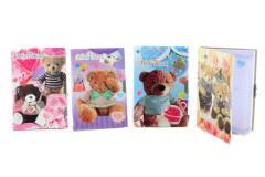 Zápisník s medvídky na klíček