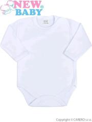 Kojenecké body celorozepínací New Baby Classic BÍLÉ, Vel. 62 (3-6m)