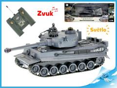 R/C tank 26cm 1:28 40MHz šedý na baterie plná funkce 10kanálů se světlem a zvukem