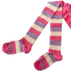 Dětské punčocháče Design Socks vel. 3 (2-3 roky) růžové proužkované