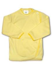 Kojenecká košilka zavinovací vel. 56 PROUŽKY ŽLUTÁ